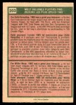 1975 O-Pee-Chee #203   -  Zoilo Versalles / Willie Mays 1965 MVPs Back Thumbnail