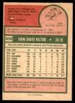 1975 O-Pee-Chee #509  Dave Hilton  Back Thumbnail
