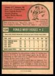 1975 O-Pee-Chee #134  Ron Hodges  Back Thumbnail
