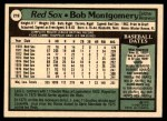 1979 O-Pee-Chee #219  Bob Montgomery  Back Thumbnail