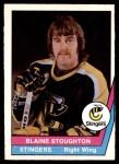 1977 O-Pee-Chee WHA #6  Blaine Stoughton  Front Thumbnail