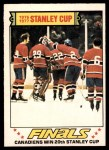 1977 O-Pee-Chee #264   Stanley Cup Finals - Canadiens Win 20th Stanley Cup Front Thumbnail