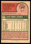 1975 O-Pee-Chee #417  Skip Lockwood  Back Thumbnail