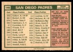 1975 O-Pee-Chee #146   -  John McNamara Padres Team Checklist Back Thumbnail