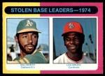1975 O-Pee-Chee #309   -  Lou Brock / Bill North SB Leaders   Front Thumbnail
