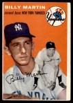1954 Topps #13 WHT Billy Martin  Front Thumbnail