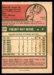 1975 O-Pee-Chee #181  Fred Beene  Back Thumbnail