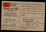 1954 Bowman #114  Richard Lemmon  Back Thumbnail