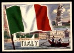1956 Topps Flags of the World #58   Italy Front Thumbnail