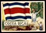 1956 Topps Flags of the World #14   Costa Rica Front Thumbnail