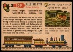 1955 Topps Rails & Sails #109   Electric Type Back Thumbnail