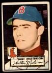 1952 Topps #186 CRM Walt Masterson  Front Thumbnail