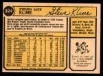 1974 O-Pee-Chee #324  Steve Kline  Back Thumbnail