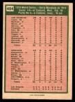 1975 O-Pee-Chee #464   -  Ken Holtzman / Steve Yeager 1974 World Series - Game #4 Back Thumbnail