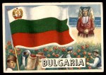 1956 Topps Flags of the World #28   Bulgaria Front Thumbnail
