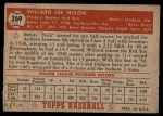 1952 Topps #269  Willard Nixon  Back Thumbnail