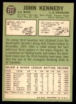 1967 Topps #111  John Kennedy  Back Thumbnail