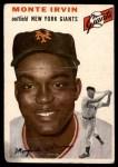 1954 Topps #3 WHT Monte Irvin  Front Thumbnail