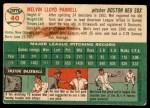 1954 Topps #40 WHT Mel Parnell  Back Thumbnail