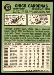 1967 Topps #325  Leo 'Chico' Cardenas  Back Thumbnail
