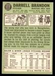1967 Topps #117 xDI Darrell Brandon  Back Thumbnail