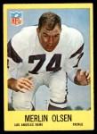 1967 Philadelphia #94  Merlin Olsen  Front Thumbnail