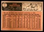 1966 Topps #196  Don Pavletich  Back Thumbnail