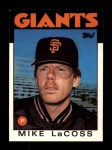 1986 Topps Traded #57 T Mike LaCoss  Front Thumbnail