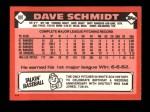 1986 Topps Traded #99 T Dave Schmidt  Back Thumbnail
