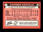 1986 Topps Traded #21 T Carmen Castillo  Back Thumbnail