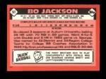 1986 Topps Traded #50 T Bo Jackson  Back Thumbnail