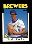 1986 Topps Traded #64 T Tim Leary  Front Thumbnail