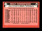 1986 Topps Traded #112 T Milt Thompson  Back Thumbnail
