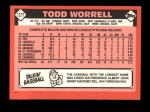 1986 Topps Traded #127 T Todd Worrell  Back Thumbnail