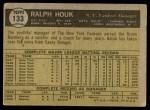 1961 Topps #133  Ralph Houk    Back Thumbnail