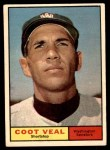 1961 Topps #432  Coot Veal  Front Thumbnail