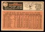 1966 Topps #352  Bob Aspromonte  Back Thumbnail