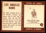 1967 Philadelphia #85   Los Angeles Rams Team Back Thumbnail