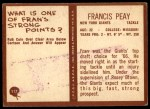 1967 Philadelphia #117  Francis Peay  Back Thumbnail