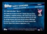 2017 Topps Update #11  Gary Sanchez  Back Thumbnail