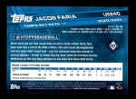 2017 Topps Update #240  Jacob Faria  Back Thumbnail