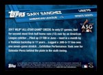 2017 Topps Update #270  Gary Sanchez  Back Thumbnail