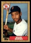 1987 Topps Traded #14 T Ellis Burks  Front Thumbnail