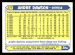 1987 Topps Traded #27 T Andre Dawson  Back Thumbnail