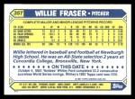 1987 Topps Traded #35 T Willie Fraser  Back Thumbnail