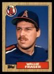 1987 Topps Traded #35 T Willie Fraser  Front Thumbnail
