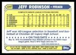 1987 Topps Traded #104 T Jeff M. Robinson  Back Thumbnail