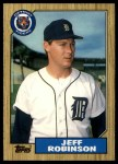 1987 Topps Traded #104 T Jeff M. Robinson  Front Thumbnail