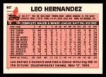 1983 Topps Traded #44 T Leo Hernandez  Back Thumbnail