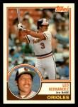 1983 Topps Traded #44 T Leo Hernandez  Front Thumbnail